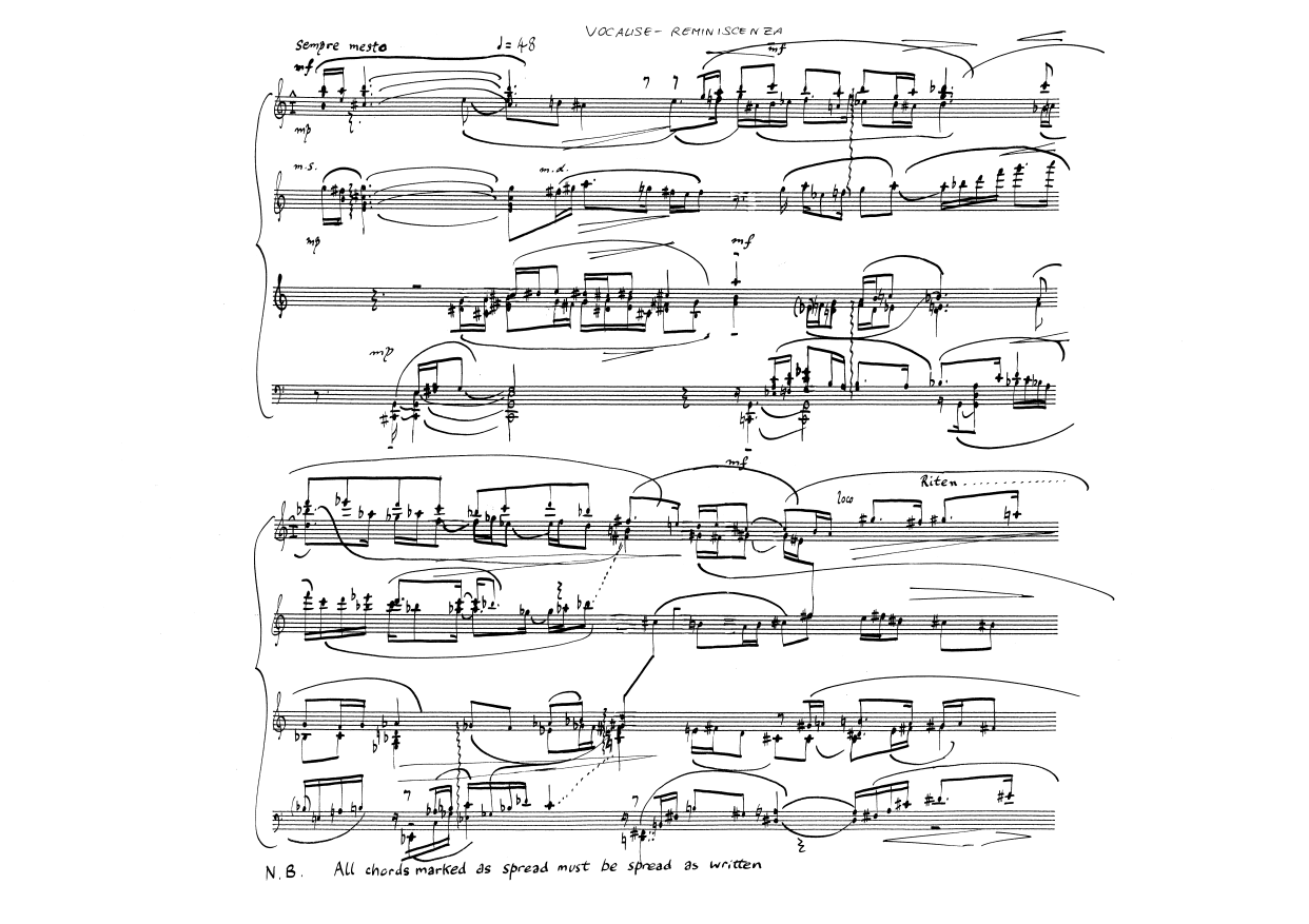 The sorabji archive alistair hinton compositions vocalise reminiscenza op29 1994 hexwebz Images