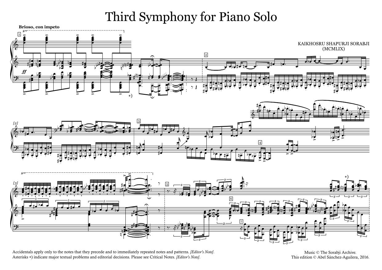 The Sorabji Archive — Compositions — KSS81 Piano Symphony No  3
